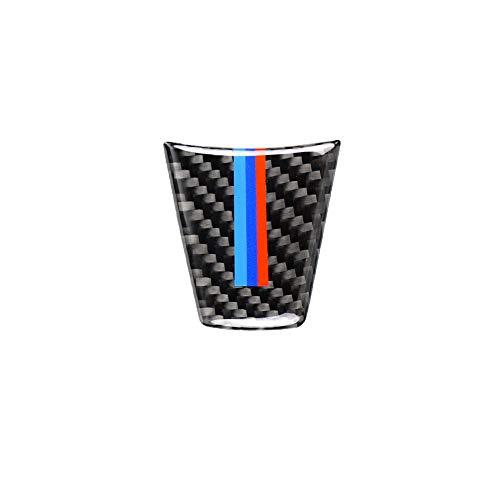 Carrfan Fahrzeuginnenraum Lenkradabdeckung, Auto Kohlefaser Lenkrad Dekoration Abdeckung für BMW 3 Series E90 E92 E93 2005-2012
