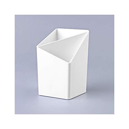 FDSJKD Escritorio de bolígrafo de Almacenamiento de Escritorio Creativo Moda tocador decoración Simple papelería Almacenamiento Escritorio Escritorio Pluma Cuadrado Titular (Color : Ivory)