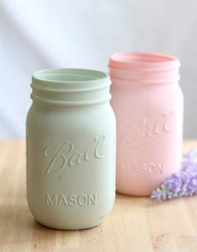 Desconocido Tarro Mason Jar Ball Pint Regular 475ml Original Pintado Color Efecto Pizarra (Verde Menta)
