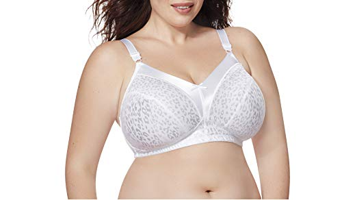 Just My Size Women's Satin Stretch Wirefree Bra MJ1960, White, 50D