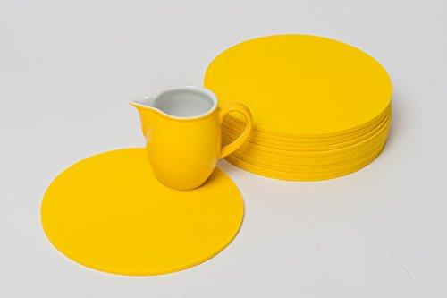daff Filz Filzscheibe Untersetzer 20 cm rund citrone