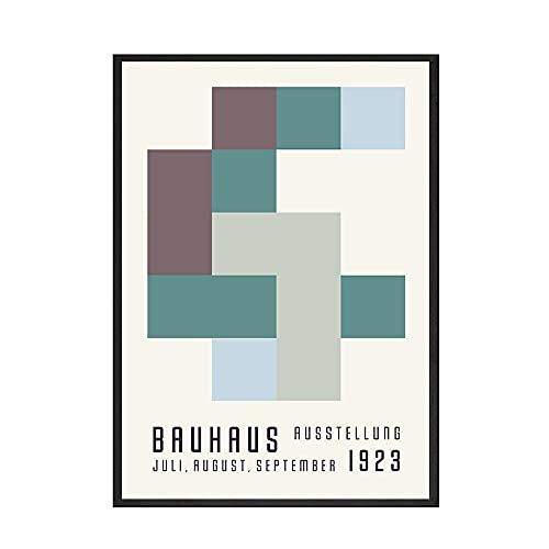 Cartel de lupino retro moderno pintura geométrica abstracta