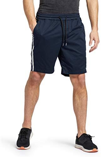 khujo Herren Shorts Amadeo aus Baumwolle Kurze Hose mit gummierten Streifen an der Seite