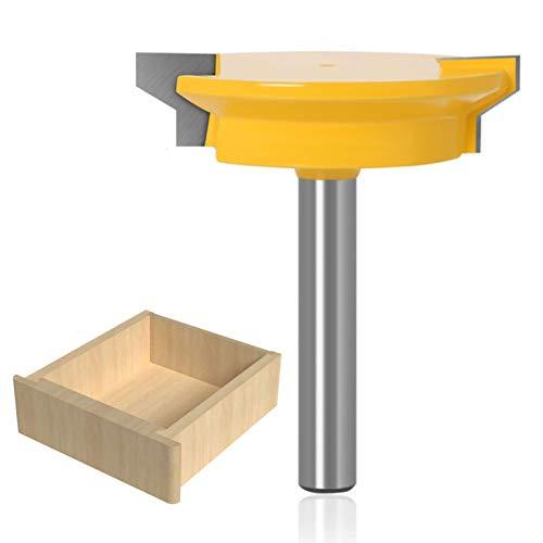 WSOOX 8mm Schaft Schubladen Verleimfräser, Umkehrbare Schublade Front Joint Fräser Holzbearbeitung Fräser
