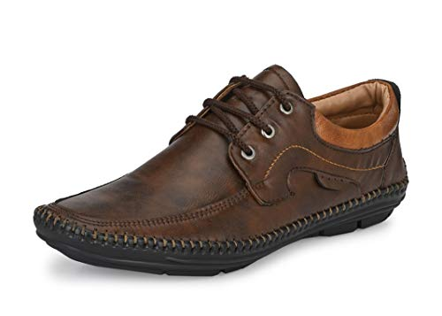 Mactree Men Flexible-Stitched Sole Premium Formal Shoes for Men D-K10 Brown-Tan_9
