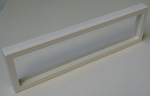3 Stück Kronenberg24 3D Schweberahmen Objektrahmen Weiss 300x90x20mm für Kleinteile