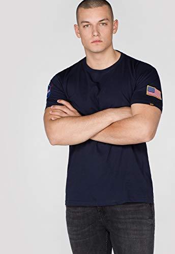 Alpha Industries NASA T-Shirt Dunkelblau L