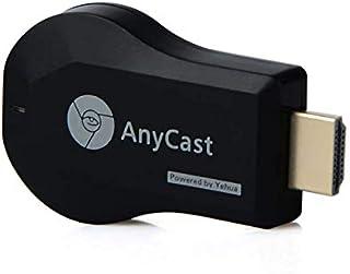 TV Stick - AnyCast M9 plus TV Stick 1080P MIracast Airplay HD 1080P اللاسلكي عرض واي فاي دونجل عصا تلفاز HDMI (أسود)