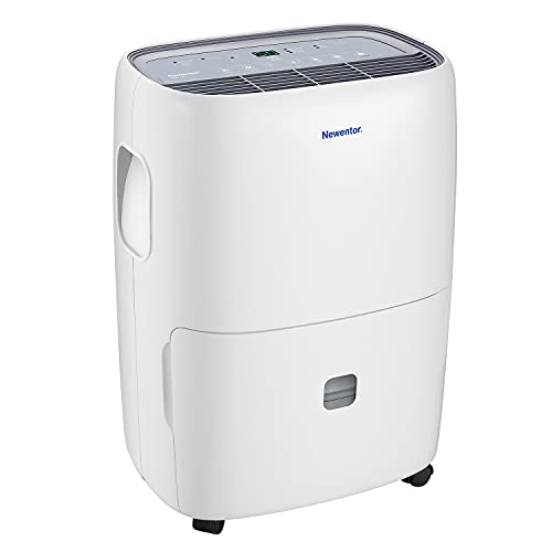 Newentor Dehumidifier 20L-25L/Day, Room Dehumidifiers for Home Damp, Large Dehumidifier Electric with Digital Humidity Display, Continuous Drainage, Laundry Drying and 24 Hour Timer
