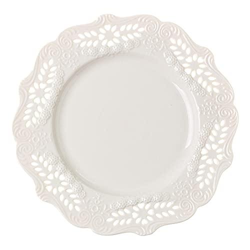 Plato de cerámica para el hogar, té de la tarde, vajilla, plato de postre, plato occidental, plato de porcelana, plato de carne nórdico, plato hueco de 10 pulgadas