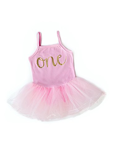 Baby Girl First Birthday Outfit, Sparkly Gold one Tutu Dress, Perfect for Baby's First...