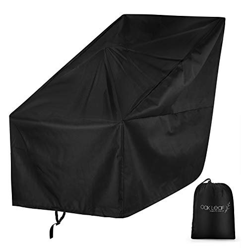 Oak Leaf Snow Blower Cover, 60' L x 34' W x 45' H Snow Thrower Cover with Carry Bag, Universal Size for Most Electric Two Stage Snow Blowers, Heavy Duty 600D Polyester Waterproof and UV Protection