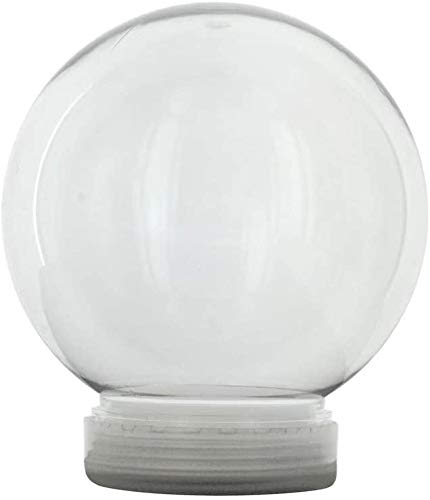 5 Inch (130mm) DIY Snow Globe Water Globe, Clear Plastic with Screw Off Cap - Great for DIY Crafts