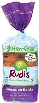 Rudis Gluten Free Cinnamon Raisin Bread 18 Ounce (Pack of 8) - Pack Of 8