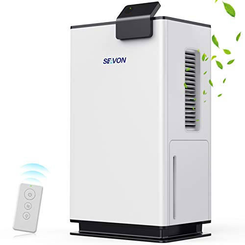 SEAVON Dehumidifiers for Home, Up to 5300ubic Feet (560 sq. ft) Dehumidifiers for High Humidity with Remote Control, 70.5oz Ultra Quiet with Two-Mode, Auto Shut Off for Basement, Bathroom, RV, Office