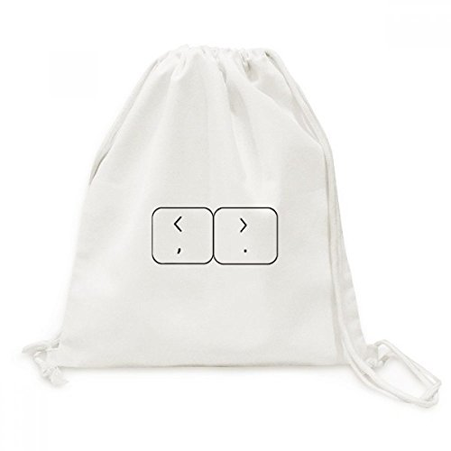 DIYthinker Tastatur Symbol Brackets Canvas-Rucksack-Reisen Shopping Bags