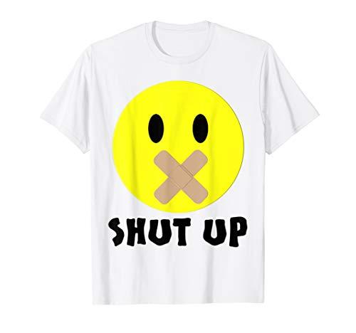 Spaß,Emoji,Smiley,Halt die Klappe,Pflaster,von River Apparel T-Shirt