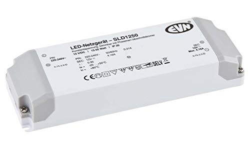 EVN Lichttechnik LED-Netzgerät SLD1250 12V/DC 15-50W IP20 LED-Betriebsgerät 4037293006798
