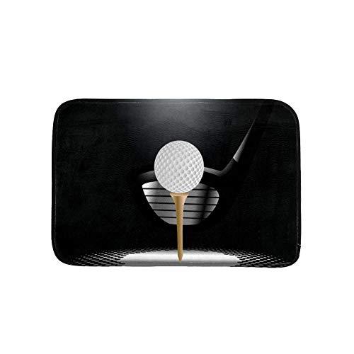 VFSS Felpudo resistente al agua con pelota de golf en la parte delantera para interiores y exteriores, alfombrilla impermeable para entrada, garaje, patio exterior, entrada interior, fácil de limpiar