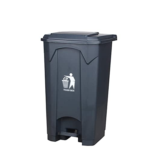 LSNLNN Contenedores de Residuos, Pedal para Exteriores Bote de Basura, Pedal de Alta Capacidad Papelera de Reciclaje de Basura para Hoteles Fábrica de Fábrica de Basura de Cocina Interior,Gris,87L
