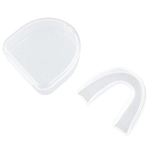 SODIAL (R) Hockey, Rugby, Arti marziali, pugilato, LACROSS Sport Gomma Scudo trasparente Bocca protezione Denti Protezione
