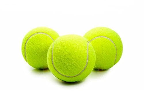 vetrineinrete Set 3 Palline da Tennis Gialle Elastiche per Allenamento Sport Giochi Racchetta Gioco per Cane Gatto F24