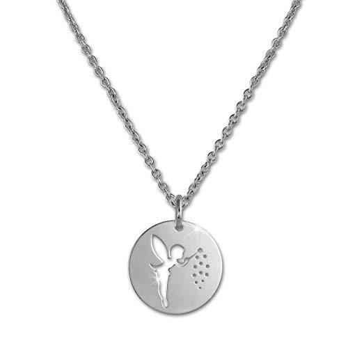SilberDream Zaubernde Fee Halskette silber Schmuck 47cm 925 Silber SDK29442J