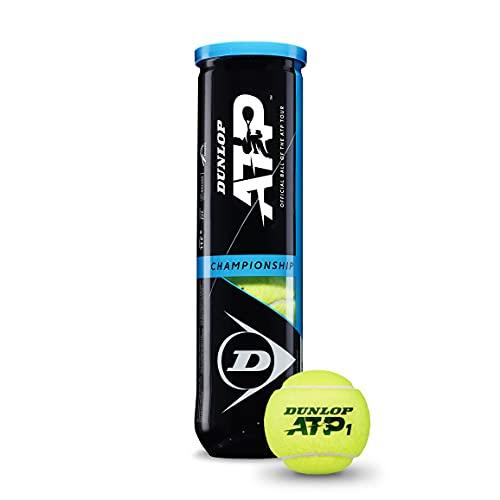 Dunlop STP Tenis ATP Championship Bote 4, Adultos Unisex, Amarillo, 4 Pelotas ⭐