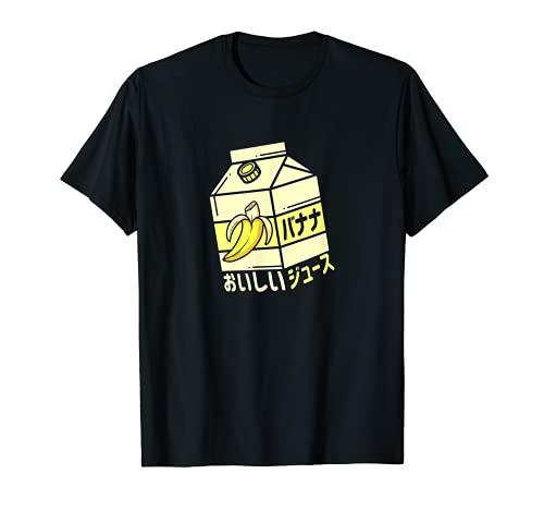 Bananensaft Japanische Limonade Otaku Ästhetische Vaporwave T-Shirt