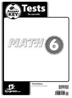 Math 6 Answer Key 3rd Ed