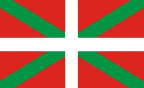Flagge Baskisches Spanien mit Ärmeln, 45 x 30 cm, 100 % Polyester, ideal für Kneipen, Clubs, Schule, Festival, Büro, Party-Dekoration