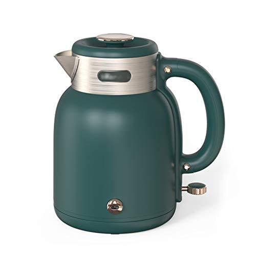 MEFKY Retro Vollautomatische Wasserkocher EIN Schlüssel Warm Halten Teekanne mit Automatischer Abschaltung Anti Trockenschutz 1500W für Family Office Schule (Farbe : Green)