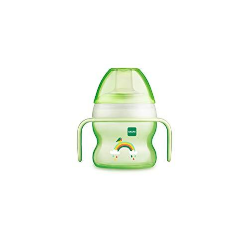 MAM Vaso Starter Cup D119 - Vaso de Aprendizaje con Boquilla y Asas Antideslizantes para Bebés a partir de 4 meses 150ml - Neutro