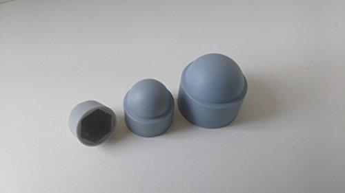 50 Stück Sechskant Schutzkappe M6 - Schlüsselweite 10mm, Farbe grau - Abdeckkappen