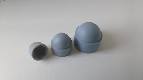 100 Stück Sechskant Schutzkappe M8 - Schlüsselweite 13mm, Farbe grau - Abdeckkappe