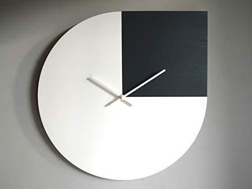 42cm Inspiriert vom zitat von Andy Warhol große hölzerne leise wanduhr für küche in vielen farben wie weiß und anthrazit Keine tickenden wanduhren Modernes design grosse leise uhr kein ticken