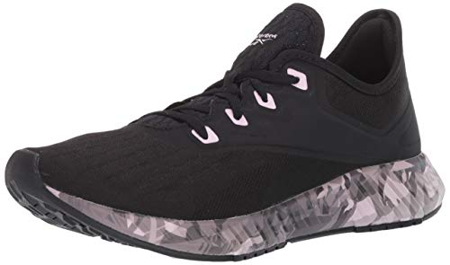 Reebok Women's FLASHFILM 2.0 GR Running Shoe, Black/Cold Grey/Pixel Pink, 6.5 M US