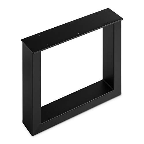Bankgestell TAB Stahl schwarz matt Profil 80 x 40 mm Höhe: 420 mm Tiefe 430 mm Bankkufen Industriedesign Bankuntergestell Bankkufe Kufengestell von SO-TECH®