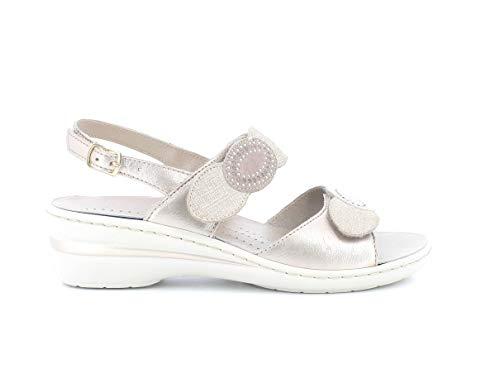 Melluso Sandalo Donna k95721a in Pelle Cipria con Sottopiede in Memory Foam 38