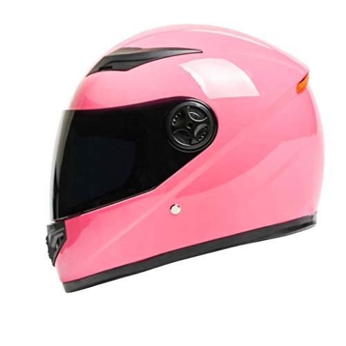 YangMi Helm- Elektrischer Motorradhelm Männer Und Frauen Vier Jahreszeiten Universal Integralhelm Winter Schwarzer Tee Anti-Fog Helm (Farbe...