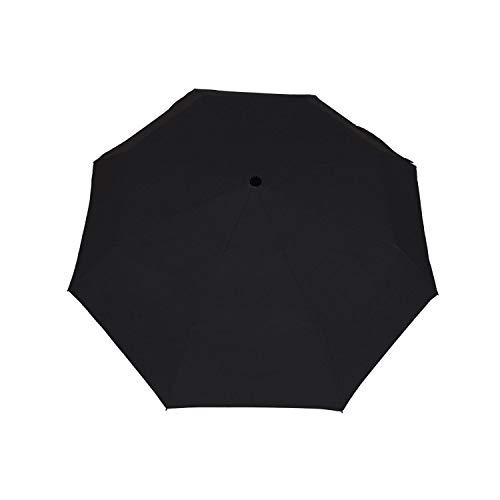8 huesos tres plegable vinilo paraguas automático sombra paraguas paraguas paraguas anti-ultravioleta paraguas, Negro (Negro) - SB-122
