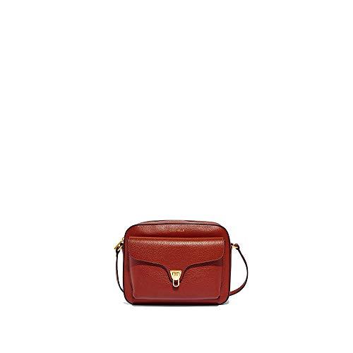 Coccinelle Borsa a Tracolla Donna Beat Soft Medium Rossa Borsa in Pelle a Spalla 20x26x9 cm