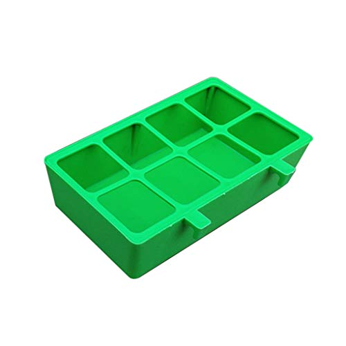 S-TROUBLE Tazas Colgantes de plástico de 4/8 Rejillas, Cuenco de alimentación para pájaros, alimentador de Loros, Bandeja de Comida de Agua