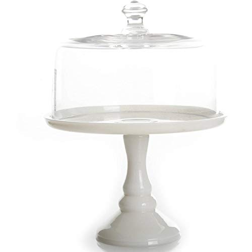 """The Pioneer Woman Timeless Beauty 10"""" Milk White Glass Cake Stand (1)"""