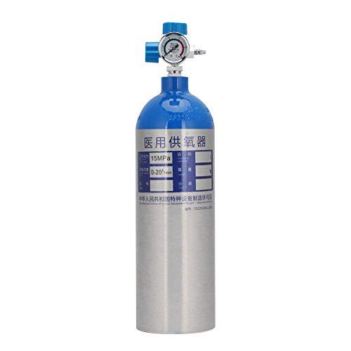 FILFEEL Cilindro de oxígeno, Botella de Cilindro de Tanque de oxígeno Profesional de 2L con Mochila portátil para el hogar al Aire Libre(Azul)