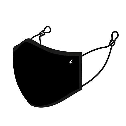 Abbacino Mascarilla unisex de adulto lavable en negro