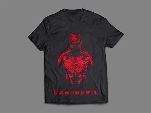 Camiseta/Camisa Masculina Demolidor Série Marvel Netflix Tamanho:M;Cor:Preto
