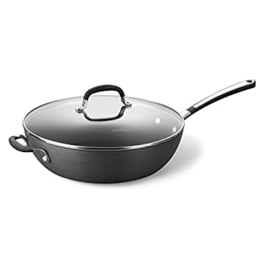 Simply Calphalon Nonstick 12  Jumbo Deep Fry Pan
