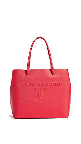 Marc Jacobs Women's Logo Shopper Tote, Red Pepper, One Size