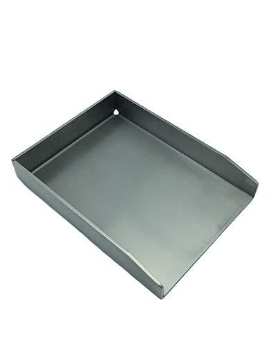 tradeNX Piastra grill in acciaio inox - Massive Plancha e accessorio BBQ per grigliare carne, pesce, verdure e frutta - 48 x 34 cm